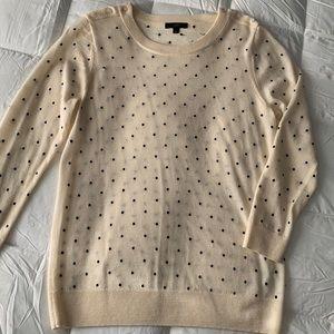 J. Crew Polka Dot Wool Sweater